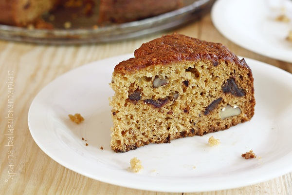 Date and Walnut Cake slice