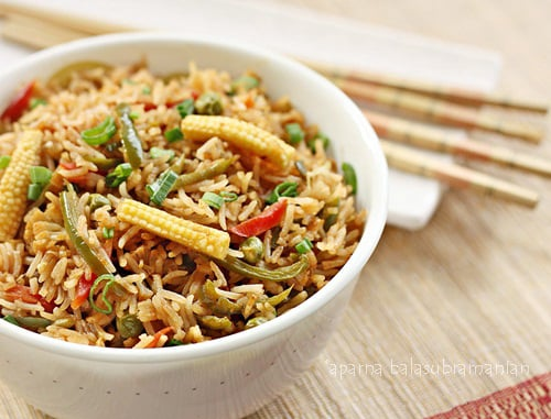 ... Vegetable Fried Rice Recipe | My Diverse Kitchen - A Vegetarian Blog