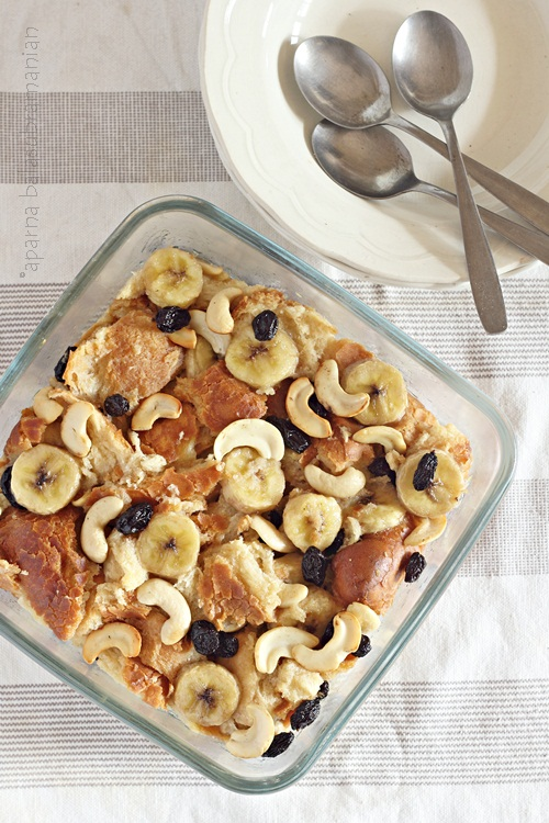 Easy Banana Bread Pudding