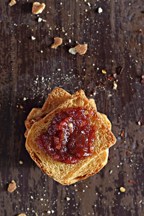 Tamarillo & Pear Jam on Toast