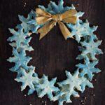 Crisp Marble Glazed Snowflake Cookies