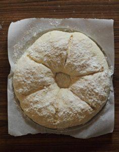 Royal Crown Tortano Bread Dough Scored
