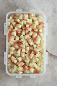 Watermelon Rind Chopped