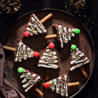 Fudgy Brownie Christmas Trees
